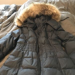 Juicy couture puffer parka with removable …